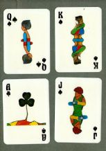 Italy Playing Cards 1977 artist Vernet RARE ns Italian deck
